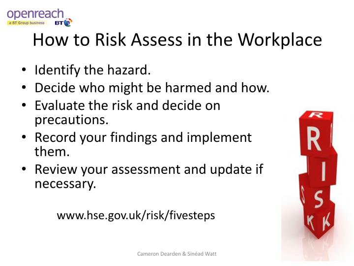 How to Risk Assess in the Workplace
