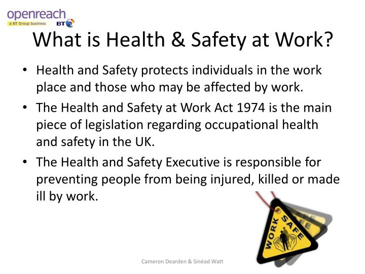 What is health safety at work