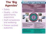 the big agendas