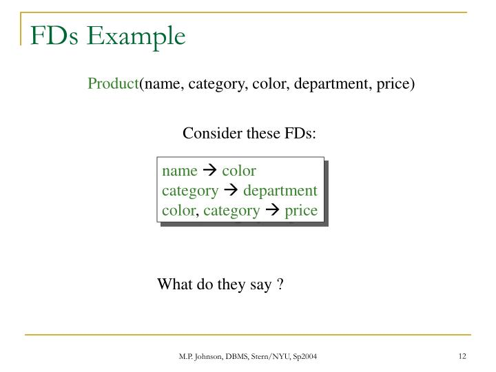 FDs Example