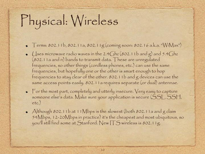 Physical: Wireless