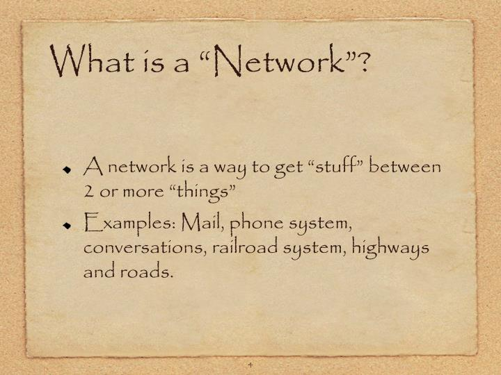 """What is a """"Network""""?"""