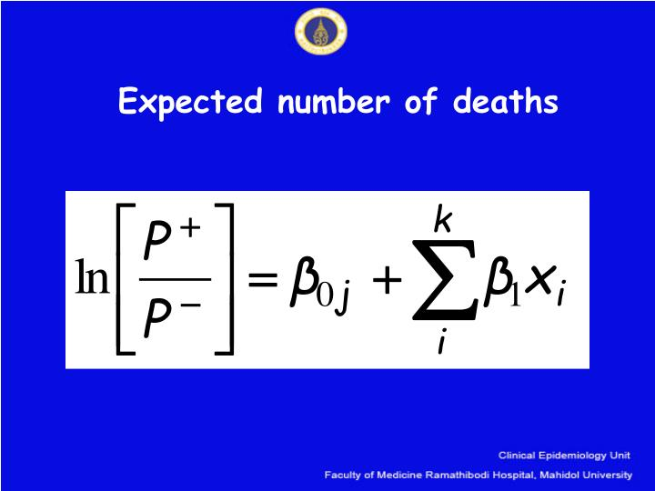 Expected number of deaths