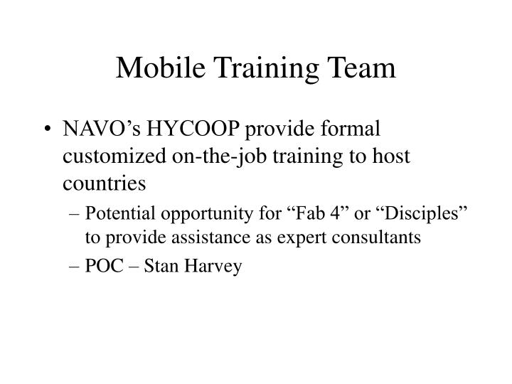 Mobile Training Team