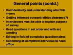 general points contd