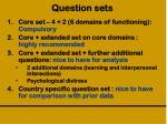 question sets