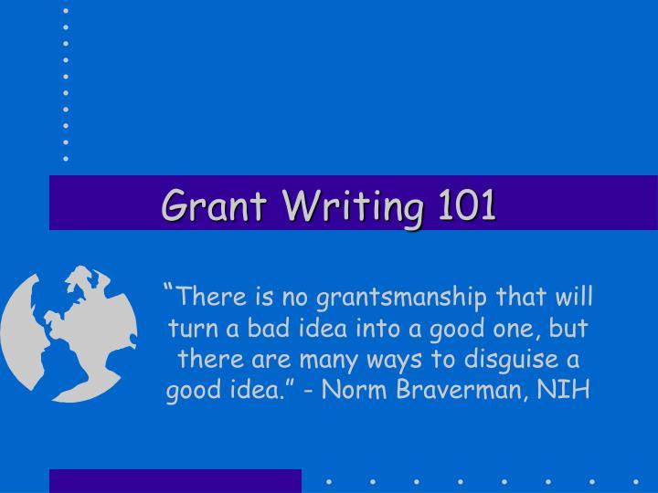 grant writing 101 n.