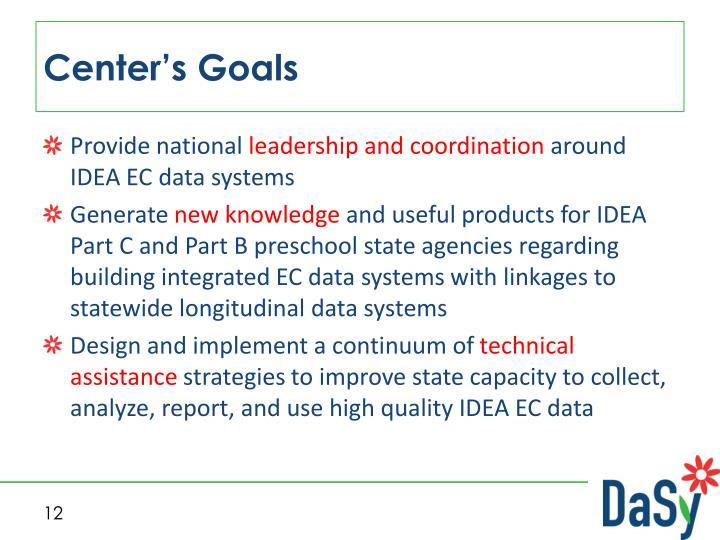 Center's Goals