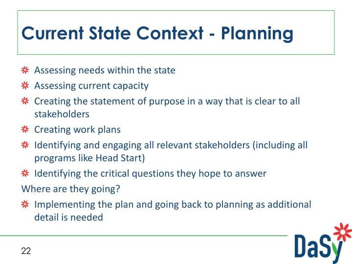 Current State Context - Planning
