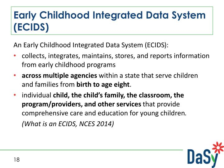 Early Childhood Integrated Data System (ECIDS)