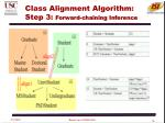class alignment algorithm step 3 forward chaining inference
