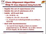 class alignment algorithm step 4 class alignment using facts kb
