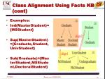 class alignment using facts kb cont