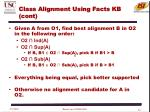 class alignment using facts kb cont1