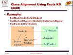 class alignment using facts kb cont2