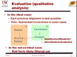 evaluation qualitative analysis