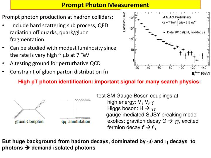 Prompt Photon Measurement