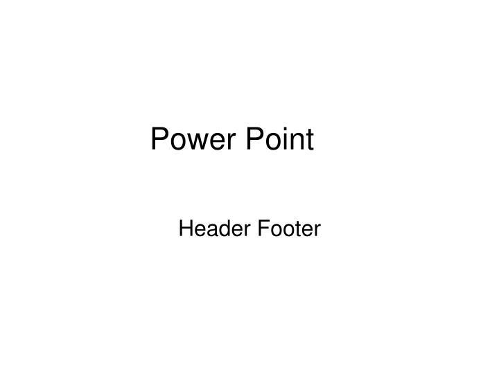 power point n.