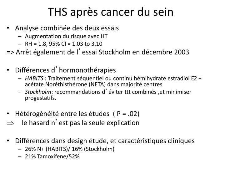 THS après cancer du sein