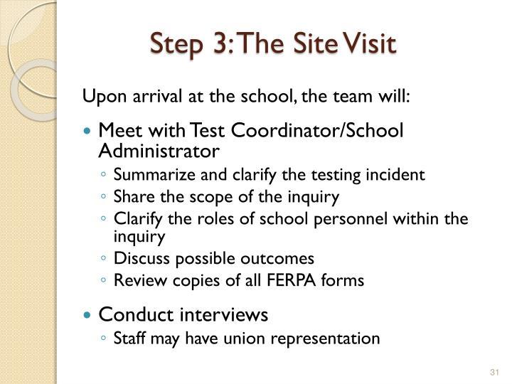 Step 3: The Site Visit