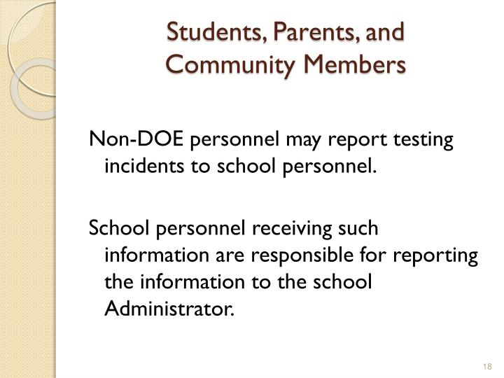 Students, Parents, and