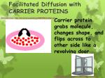 facilitated diffusion with carrier proteins