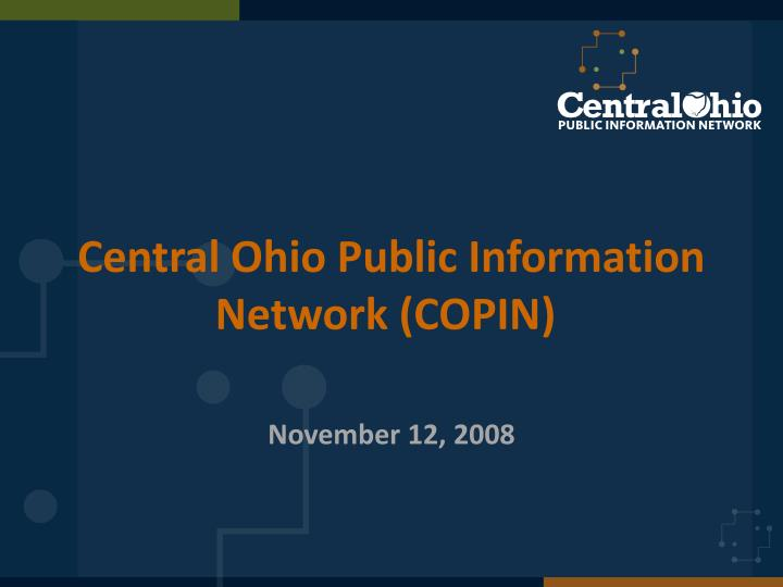 Central ohio public information network copin