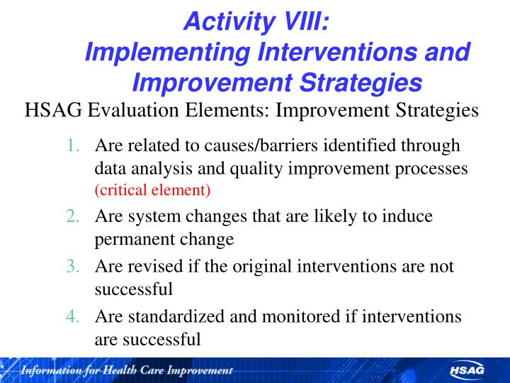 Activity VIII: