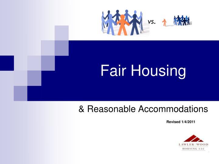 fair housing n.