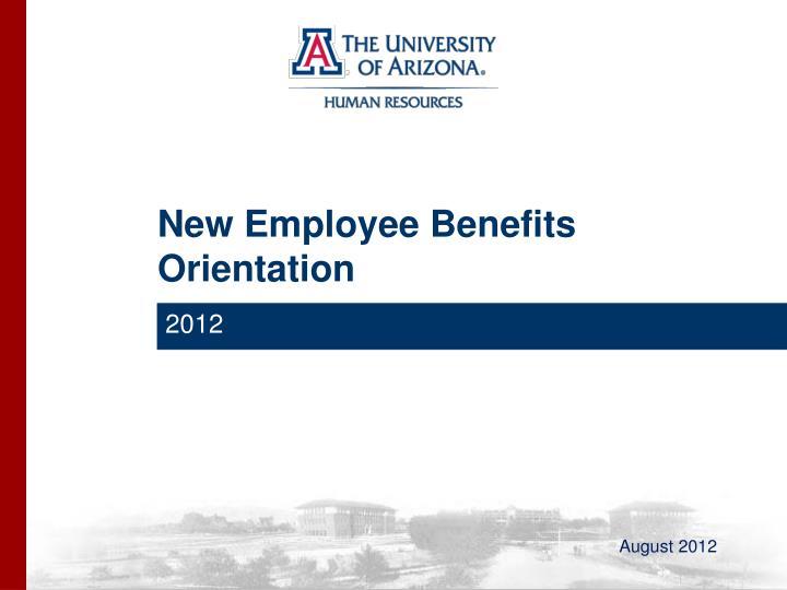 new employee benefits orientation n.
