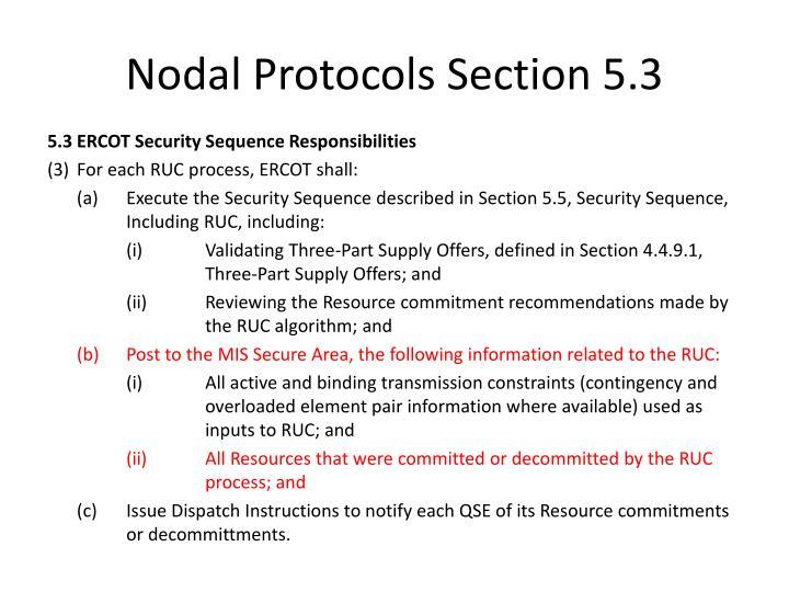 Nodal Protocols Section 5.3