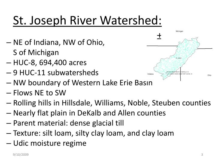 St joseph river watershed