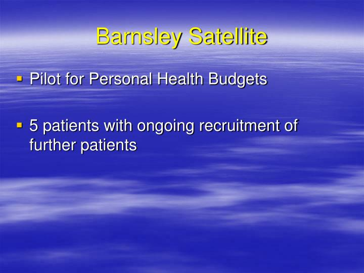 Barnsley Satellite