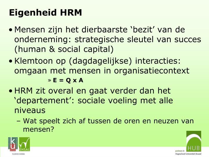 Eigenheid HRM