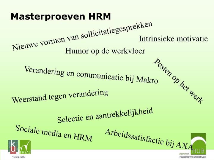 Masterproeven HRM