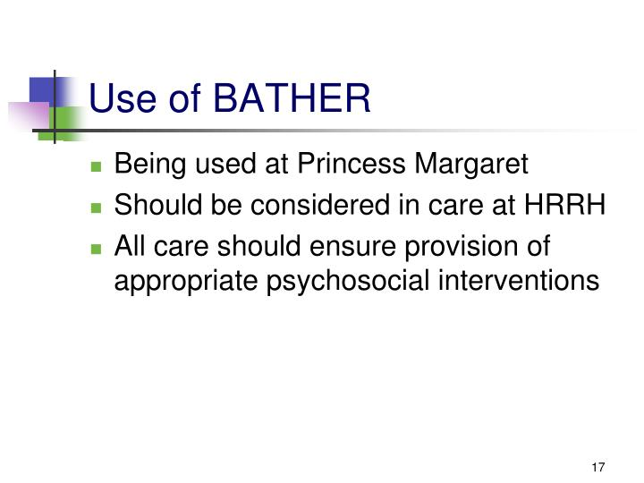 Use of BATHER