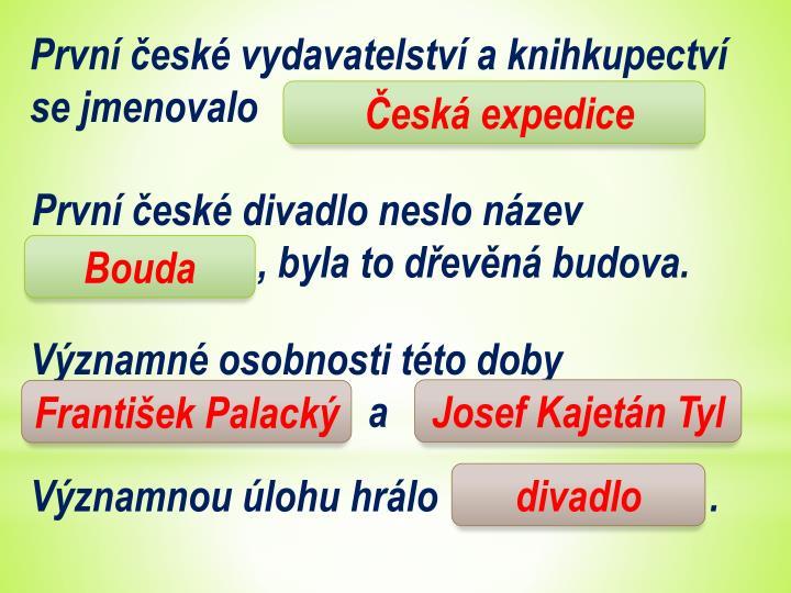 První české vydavatelství a knihkupectví