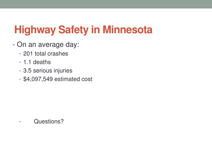 Highway Safety in Minnesota