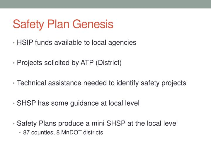 Safety Plan Genesis