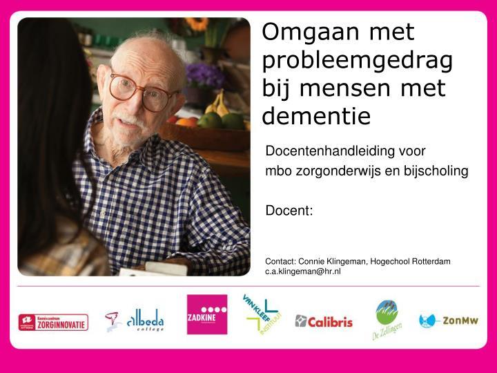 omgaan met probleemgedrag bij mensen met dementie n.