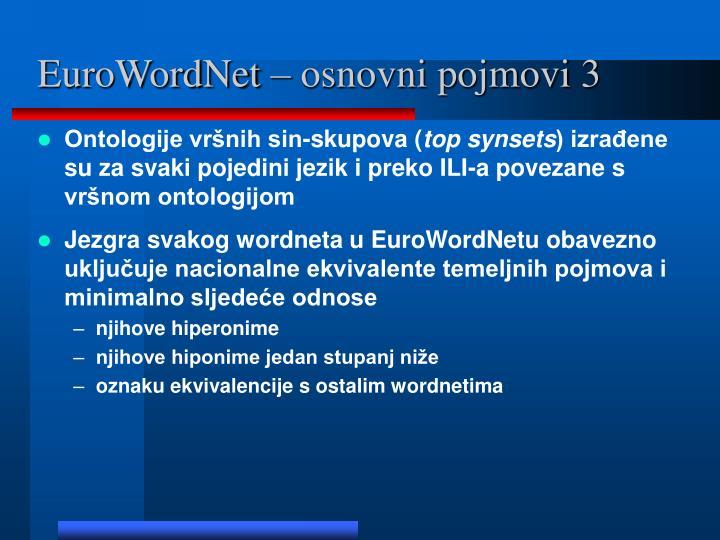 EuroWordNet – osnovni pojmovi 3