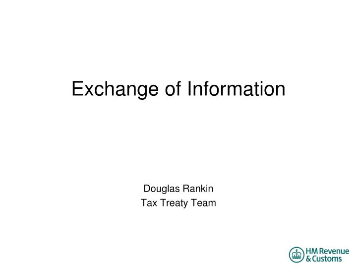 exchange of information n.