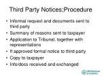 third party notices procedure1