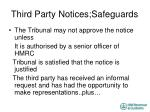 third party notices safeguards1