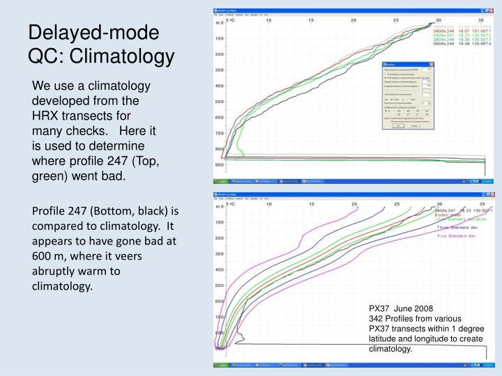 Delayed-mode QC: Climatology