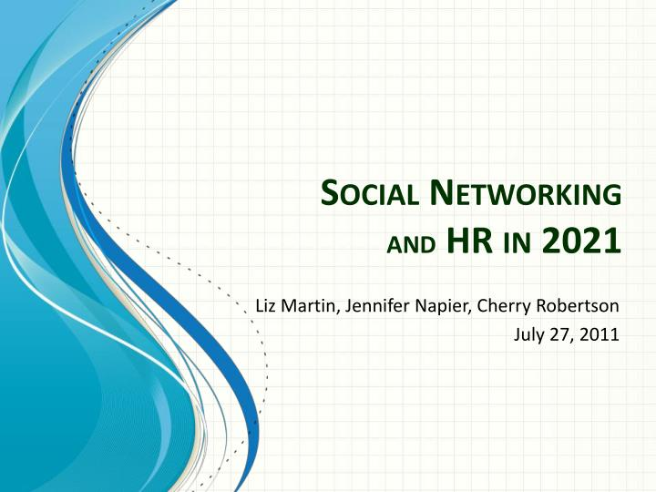 social networking and hr in 2021 n.