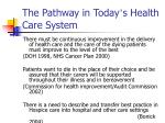 the pathway in today s health care system