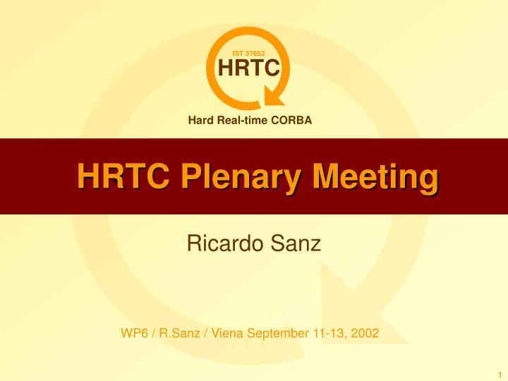 hrtc plenary meeting n.