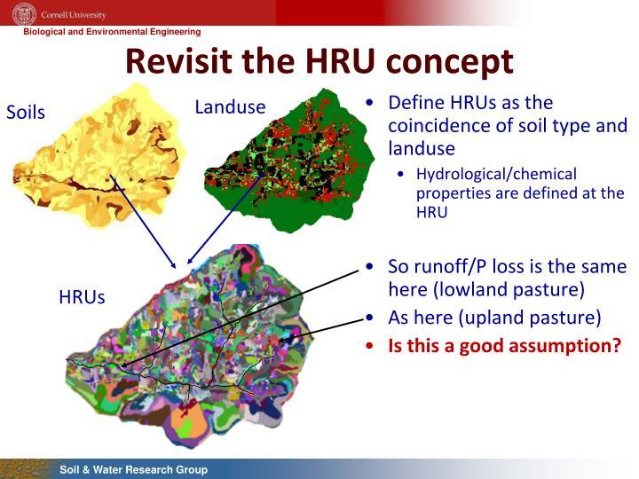 Revisit the HRU concept