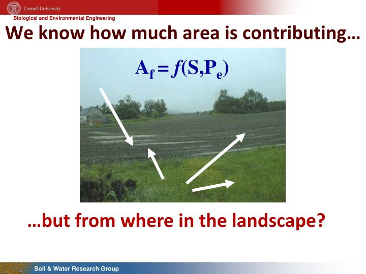 We know how much area is contributing…